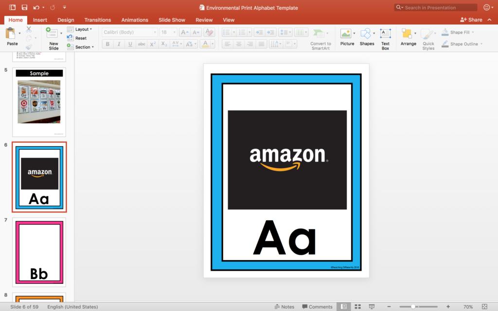 Creating an Environmental Print Alphabet